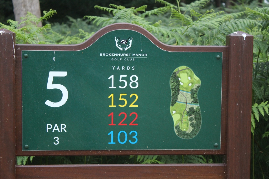 5th Hole @BrokenhurstGC – Ball moves on the puttinggreen
